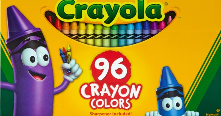 walmart crayola 96 count crayons with built in sharpener for just