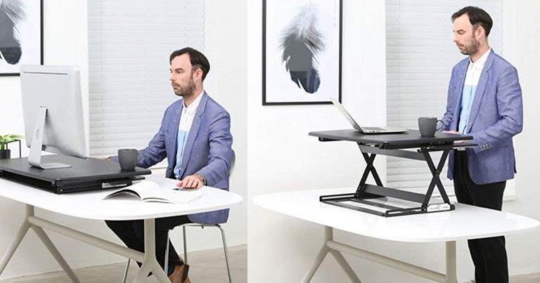 Amazon: Height Adjustable Standing Desk Riser 35in And 47in $216.75 $254.25