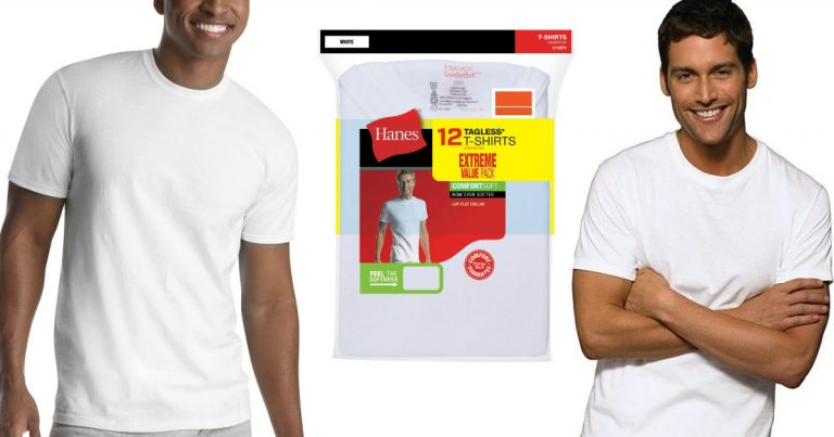 775c725e Hop on over to Walmart and grab a deal on this 12-Pack of Hanes Men's  FreshIQ ComfortBlend White Tagless Crew T-Shirts for just $16.