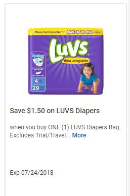 Luvs digital coupons
