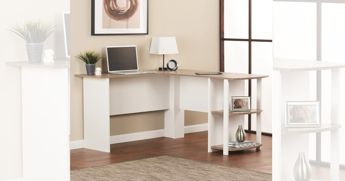 Fine Amazon Ameriwood Home Dakota L Shaped Desk With Bookshelves Download Free Architecture Designs Licukmadebymaigaardcom