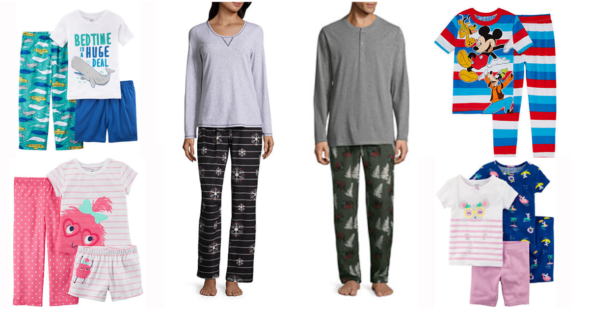 Jcpenney Pajama Sets For The Family From 2 99 Reg Up