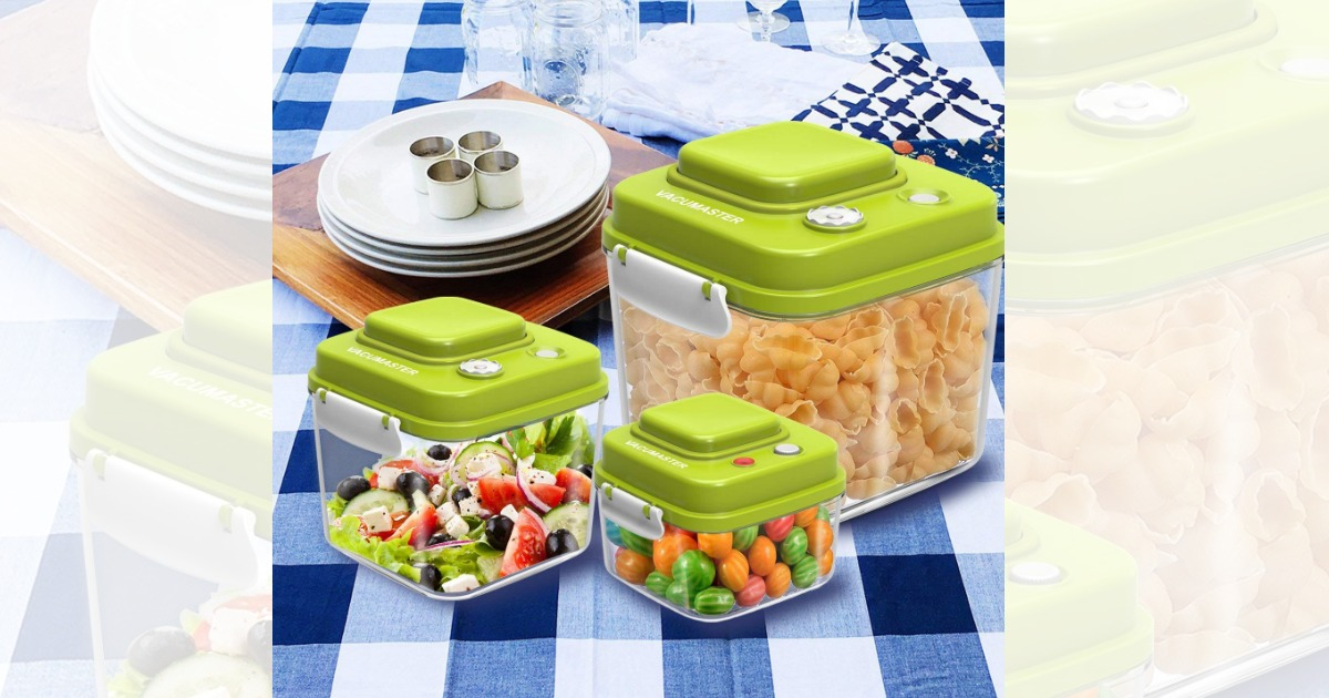 Amazon: Food Storage Container With Vacuum Sealed Airtight Lid Only $21.21  (Regular Price: $42.42)