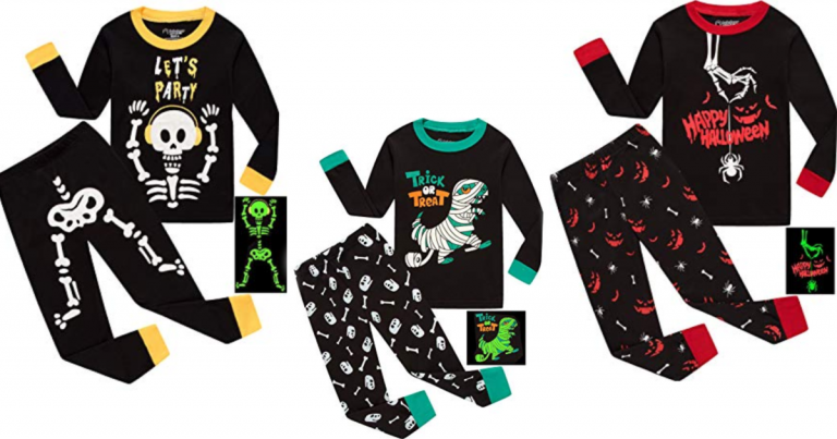 amazon has a great deal on lots of cute kids halloween pajamas for 50 off with code 50heymez from just 450 reg 999 some even glow in the dark