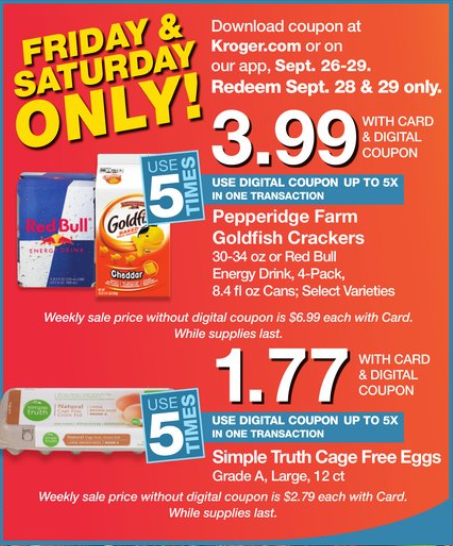 picture about Red Bull Printable Coupons titled Kroger: Friday Freebie! Ranking 1 Free of charge Hormel Compleats + 2