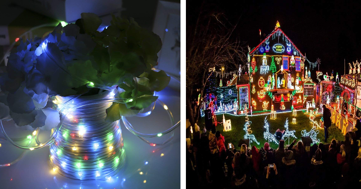 Picture of: Amazon 46ft Outdoor String Lights Waterproof Fairy Lights Battery Powered Only 5 75 Regular Price 22 99 Mylitter One Deal At A Time