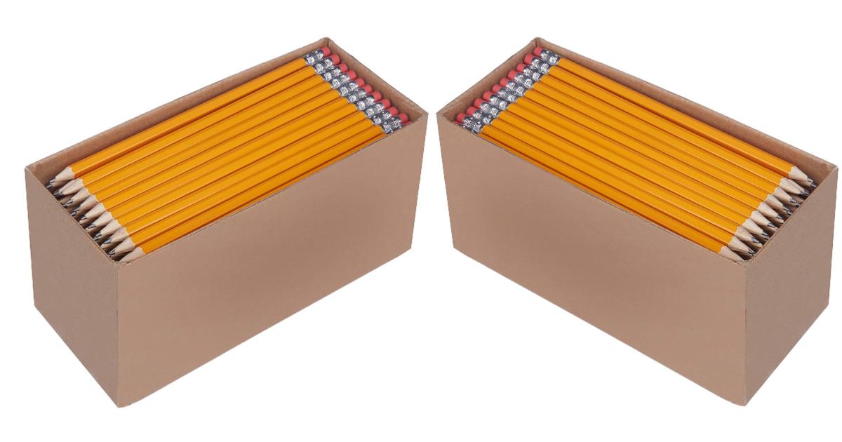 150 Pack AmazonBasics Pre-sharpened Wood Cased #2 HB Pencils