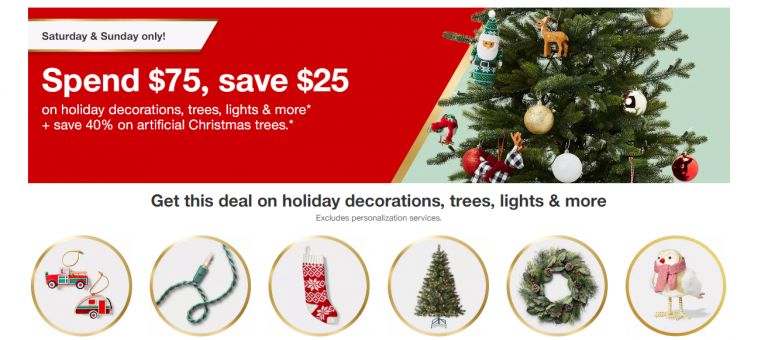 Target 25 Off 75 Holiday Decor 40 Off Christmas Trees