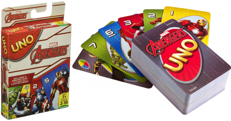 picture about Uno Printable Coupons known as Amazon: Speculate Avengers UNO Card Match - MyLitter - A person Offer