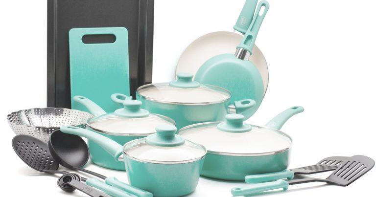 Greenlife 18 Piece Set Ceramic Non Stick Cookware 59 99 Regular Price 129