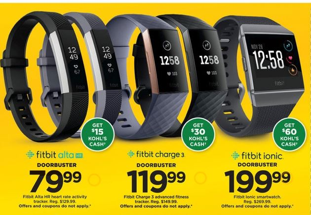 Kohl's Black Friday | 4 FitBit Doorbuster Deals! - MyLitter - One