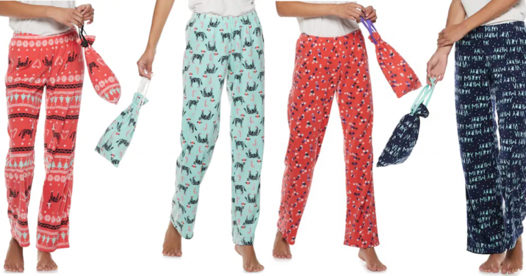 418a34f7884 Kohl s  Juniors  SO Fleece Pajama Pants in a CUTE Bag