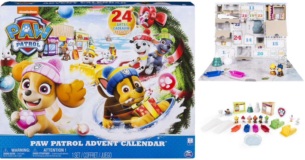 amazon  paw patrol advent calendar  18 11  reg   24 99