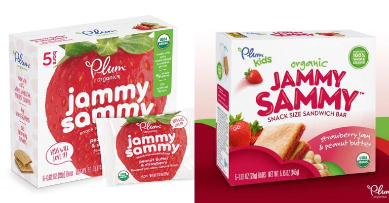 image relating to Plum Organics Printable Coupons titled Amazon: Plum Organics Jammy Sammy (Pack of 30 Bars