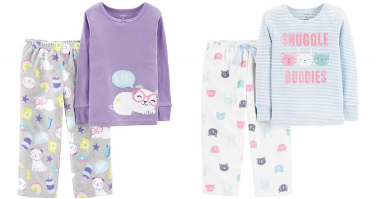 a5ec378ef Kohl s  Toddler Girl Carter s Top   Microfleece Bottoms Pajama Set ...