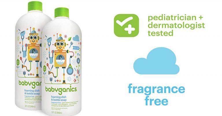 photo relating to Babyganics Coupon Printable identify Amazon: Pack of 2 Babyganics Foaming Dish and Bottle Cleaning soap