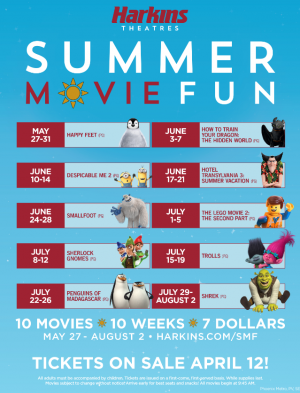 Harkins Theatres Summer Movie Fun Program For Kids ~ Begins
