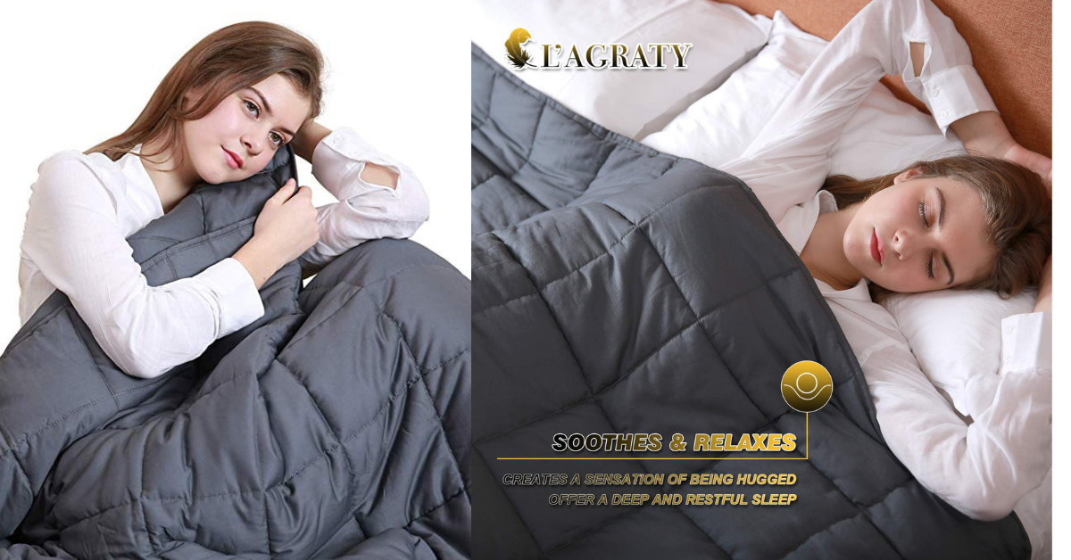 477ecc48bb52b Amazon: L'AGRATY Weighted Blanket for Adults (15 lbs, 48