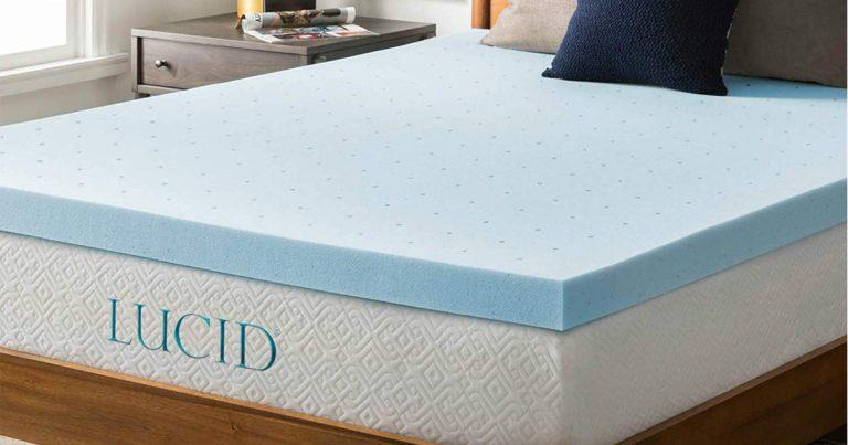 ae97b24d3 Amazon  Save on LUCID 3-inch Gel Memory Foam Mattress Topper ...
