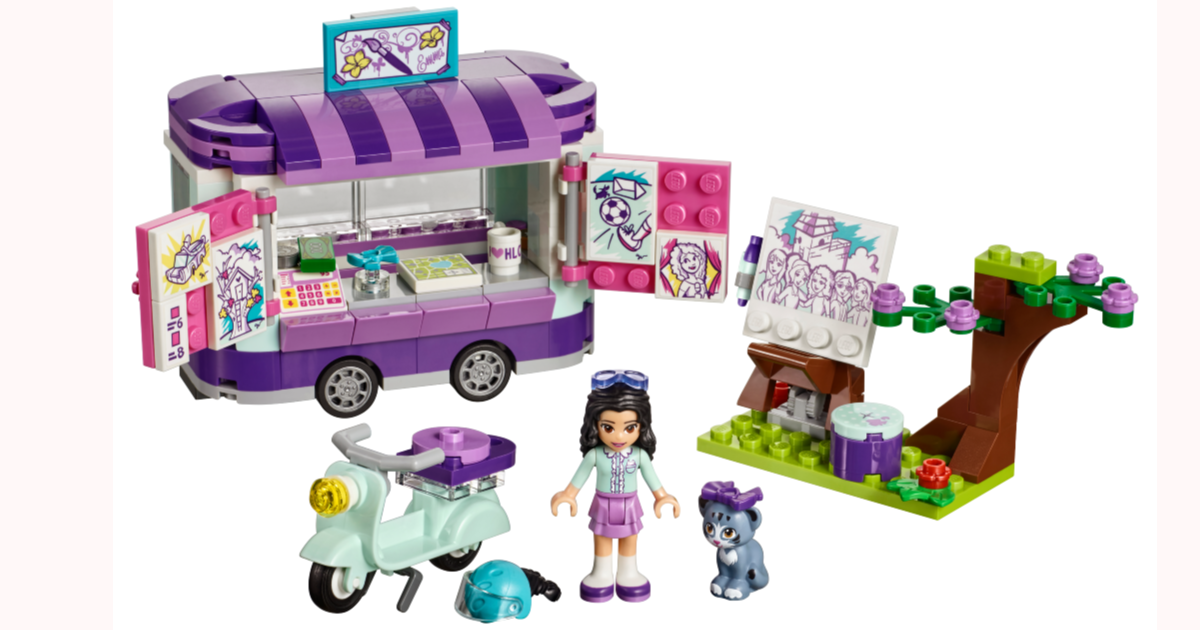 Lego Friends Emma S Art Stand Fun For Less