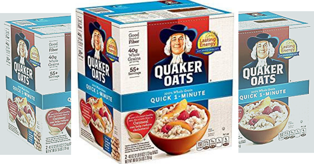 photo relating to Quaker Printable Coupons identify Amazon: Quaker Oats Uncomplicated 1 Moment Oatmeal (55 Servings W