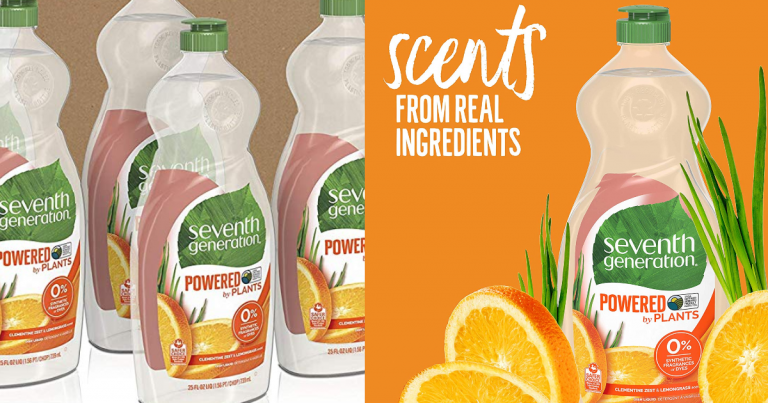 graphic regarding Seventh Generation Printable Coupon named 18-Bottles 7th Production Dish Cleaning soap, Clementine Zest