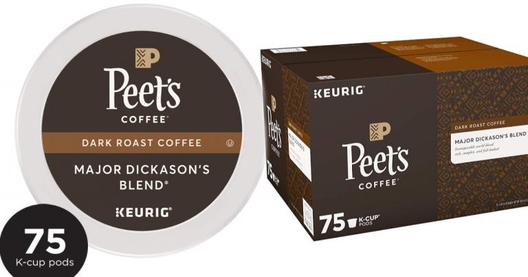 photo about Peet Coffee Printable Coupon identify Peets Espresso Principal Dickasons Merge Dim Roast K-Cup Espresso