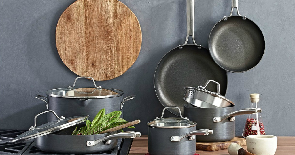 Huge Savings Calphalon 10 Piece Cookware Set Kohl S Black Friday Deals Now Mylitter One Deal At A Time