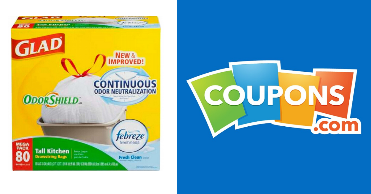 Free Printable Coupons 3 Off 1 Glad Kitchen Trash Bags Mega Pack 13 Gallon 80 Ct Mylitter One Deal At A Time