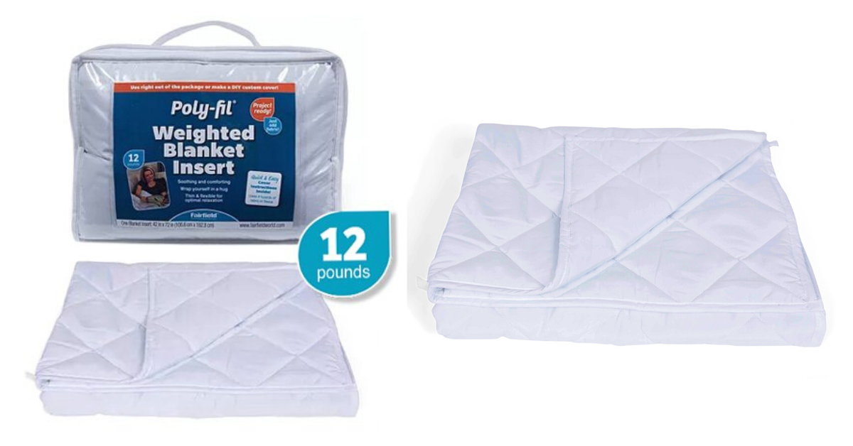 Walmart Rollback Poly Fil Weighted Blanket Insert 42 X 72 12lb Mylitter One Deal At A Time
